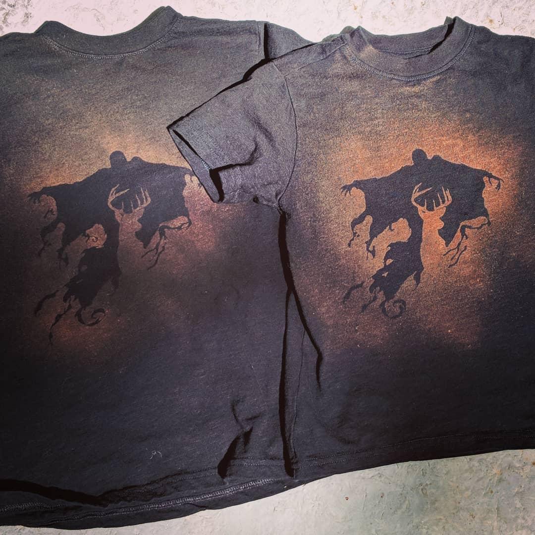 Making bleach shirts with stencils cut on Cricut Maker